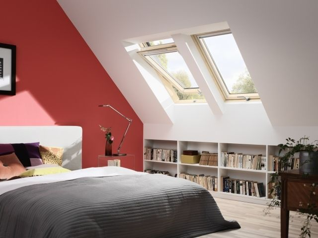 schlafzimmer dachschräge streichen ideen ziegelrot weiß Home - dachschrage gestalten schlafzimmer