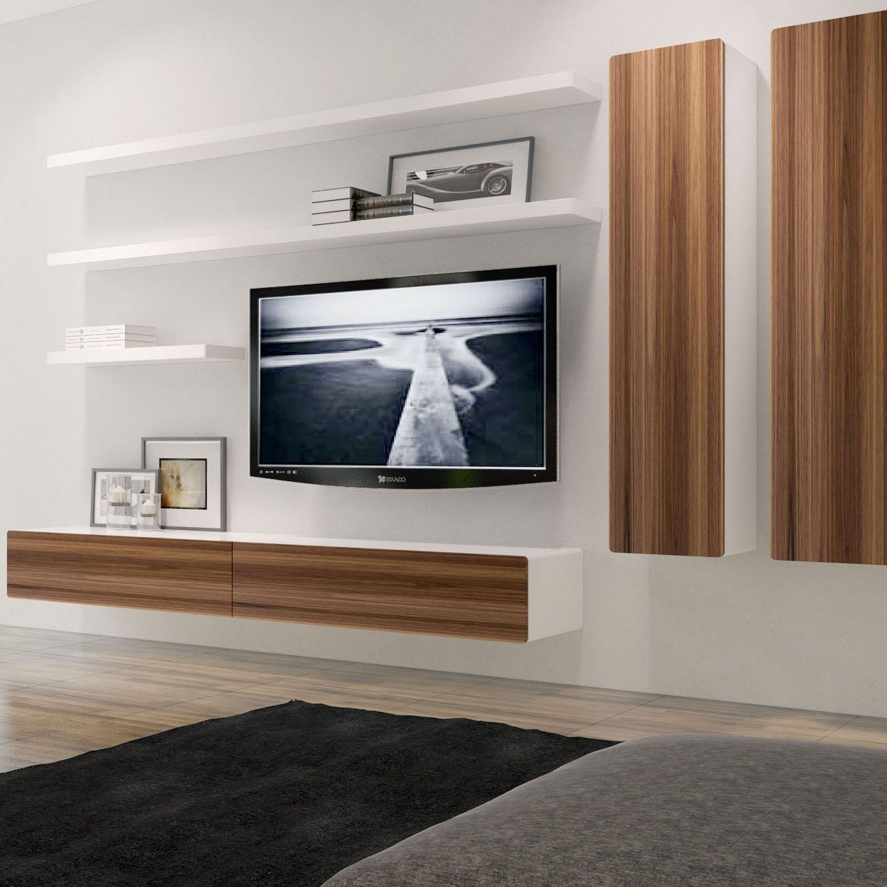 Floating Tv Wall Unit This Charming Floating Composition Which Combines The