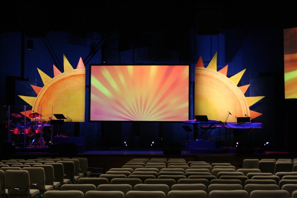 Stage Decoration Ideas Design Sunny Side Up Stage Stage Designs Pinterest Stage