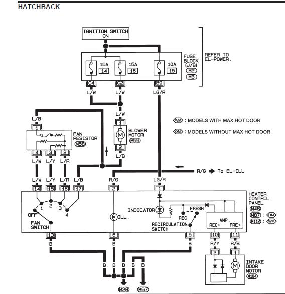 nissan almera ignition wiring diagram