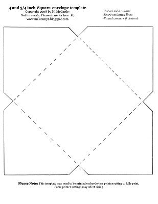 I have been considering a quilted envelope for folks who run the - 4x6 envelope template