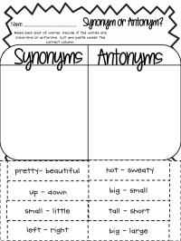 Synonym or Antonym.pdf - Google Drive | Fun School Stuff ...