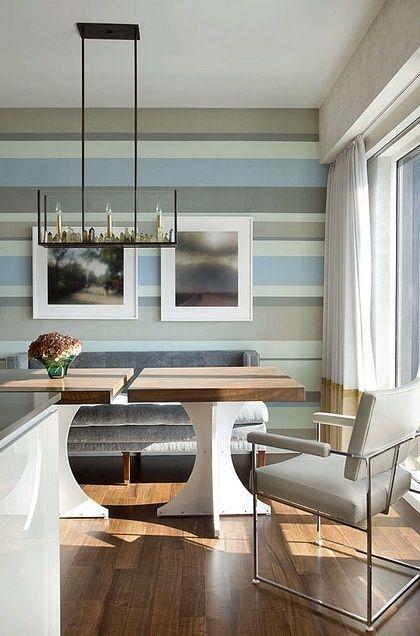 Streifen an der Wand hellblau grau esszimmer Krümel Pinterest - esszimmer graue wand