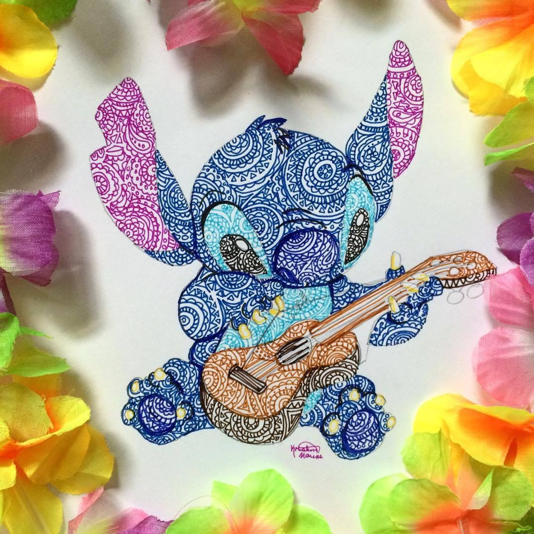 Dibujos Decorativos Stitch Drawing By Kristina Illustrations Instagram