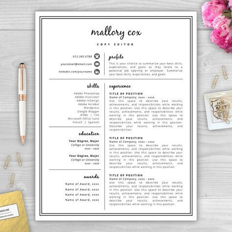 Resume Icons Resume Design Resume Template por - awesome resume template