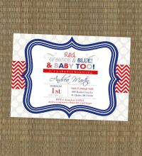Printable 4th of July Baby Shower Invitation - 4th of July ...