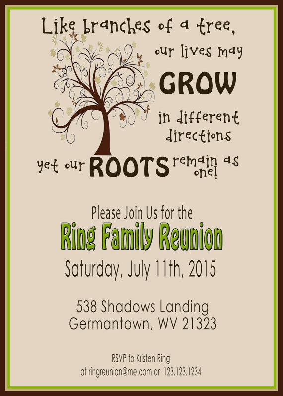 Family Reunion Invite Swirly Tree PRINTABLE by 2LittleDunn - class reunion invitation template