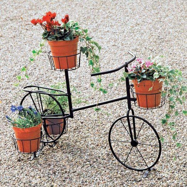 Bicycle Plant Stand Decorative Metal Bike Plant Pot