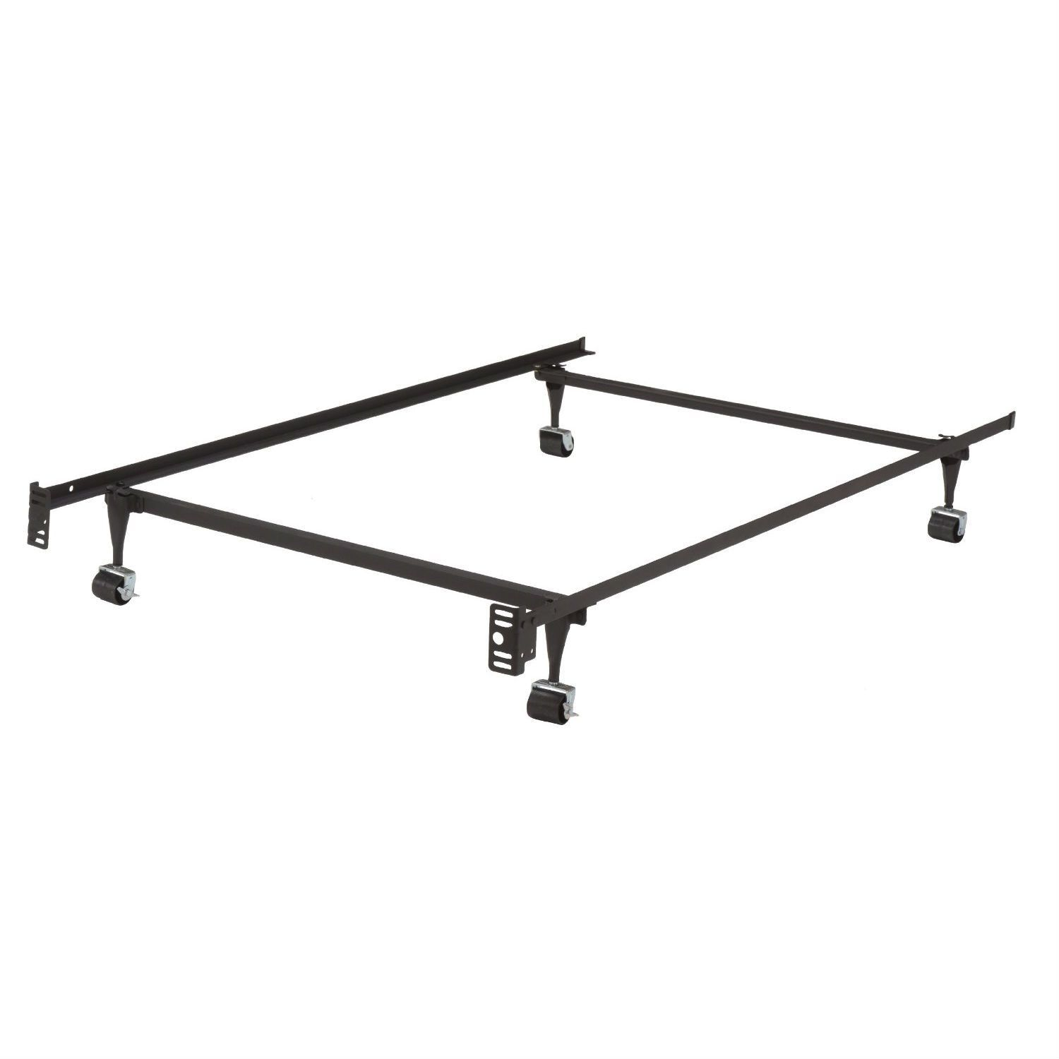 Queen Size Metal Bed Frame Twin Metal Bed Frame W Locking Rug Roller Wheels