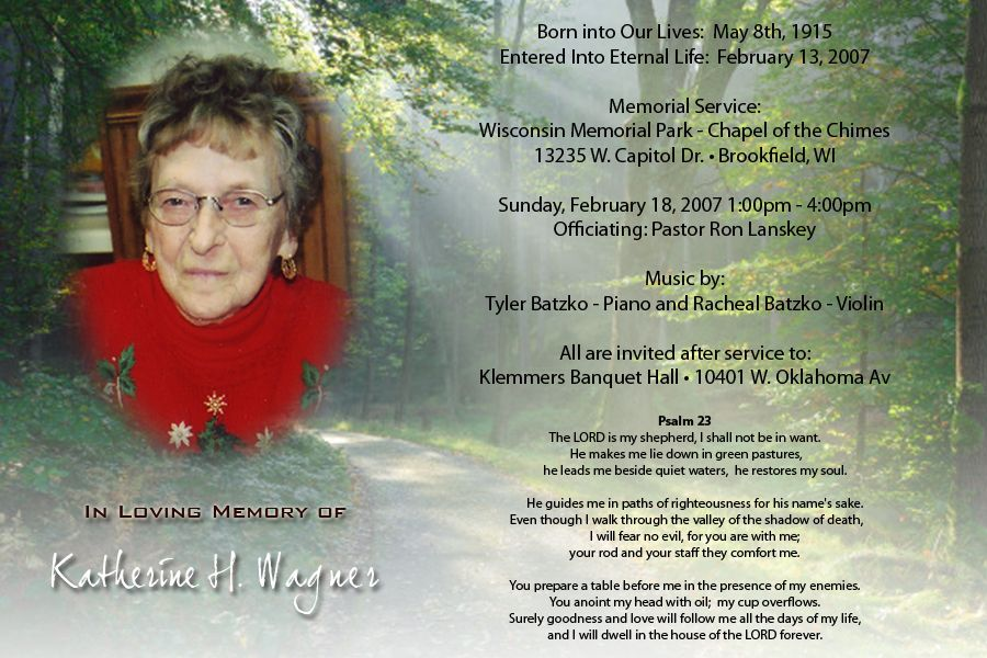 examples of memorial service announcements home or womens lucky - funeral announcement sample