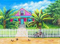 Caribbean Life Painting - Caribbean Life Fine Art Print ...