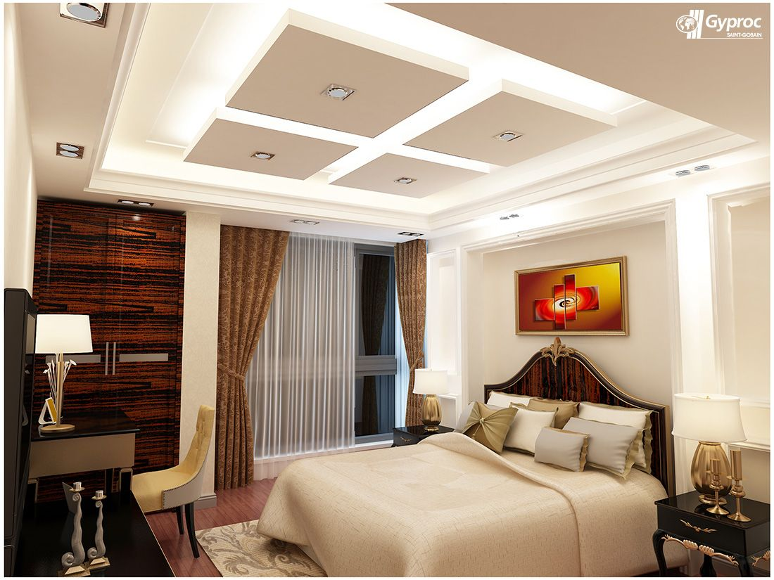 Bed Suspended From Ceiling Gyproc Falseceiling Can Completely Change Your Bedroom
