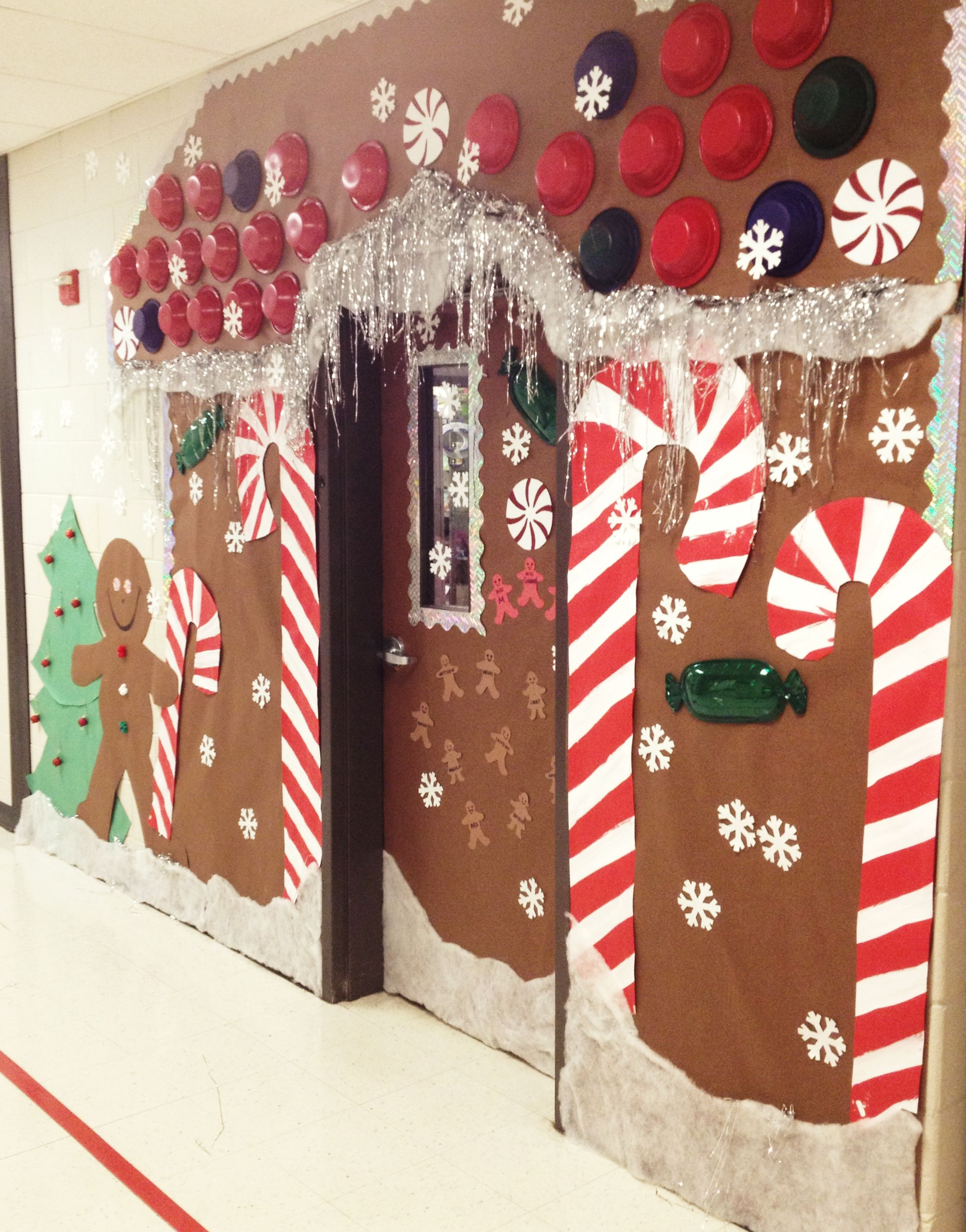 Christmas Holiday Door decoration, for school. Gingerbread