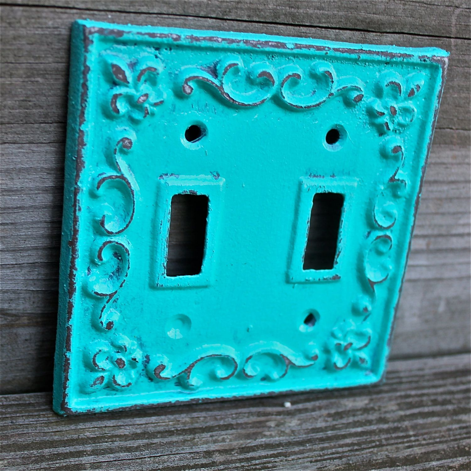 Ornate Switch Plates Teal Decorative Light Switch Plate Double Switch Cover