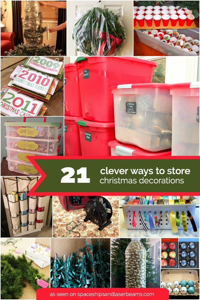 21 Creative Christmas Decoration Storage Ideas Christmas storage - how to store christmas decorations