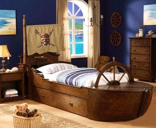 Sailboat Kids Furniture Cool Pirate Ship Beds For Kids