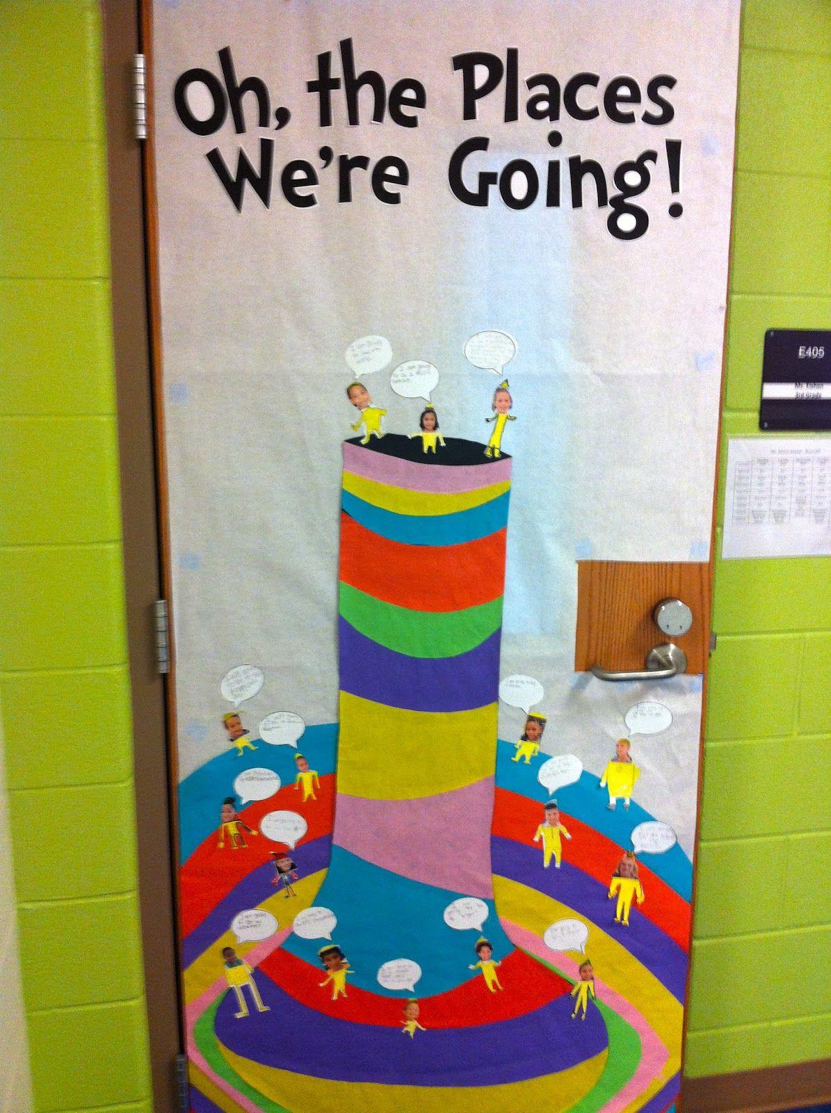 """Oh the Places We're Going!"" Dr. Seuss door decor/bulletin"