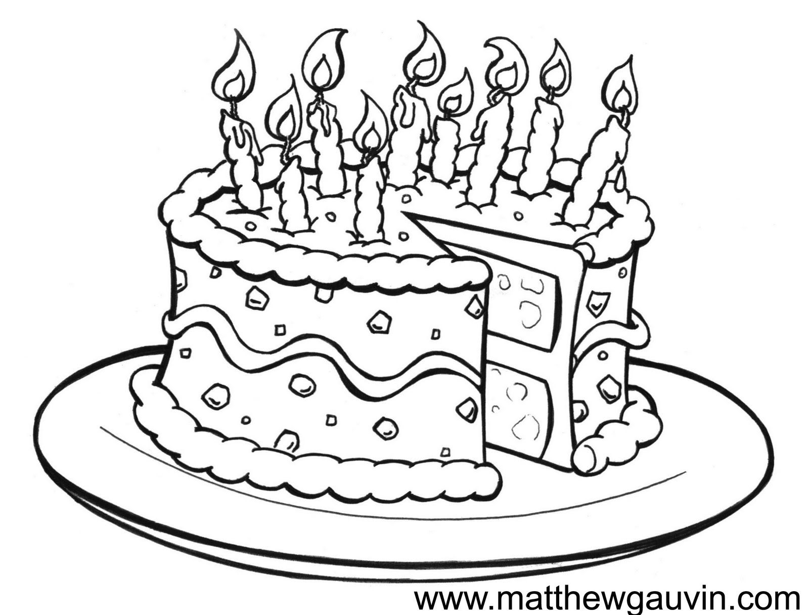 Drawing Cake Colour Birthday Drawings Mg Children 39s Book Illustrations
