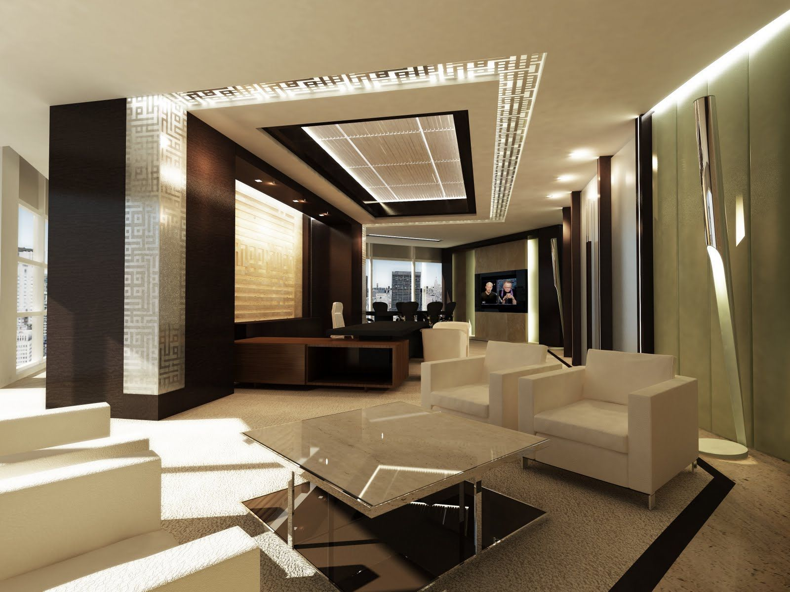 Modern Lighting Concept Asymetrical Office Layout For Luxury And Modern Concept Of