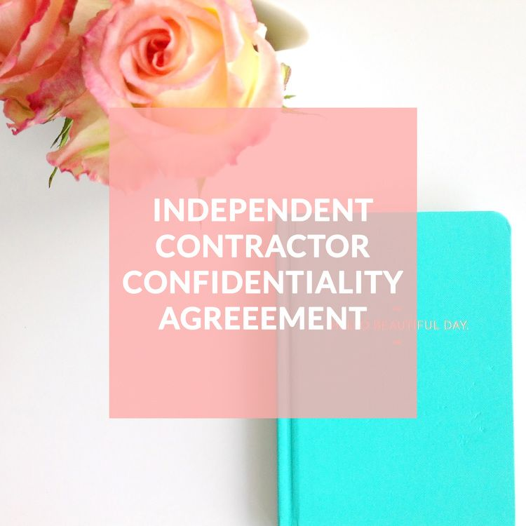 Independent Contractor Confidentiality Agreement - Contract - contractor confidentiality agreement