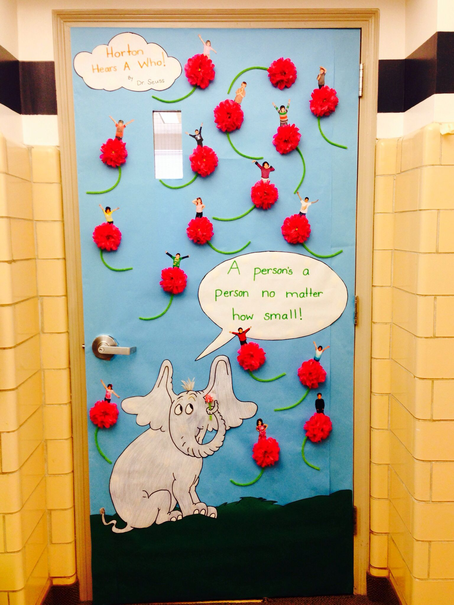 "Read Across America ""Horton Hears A Who!"" door decorating"