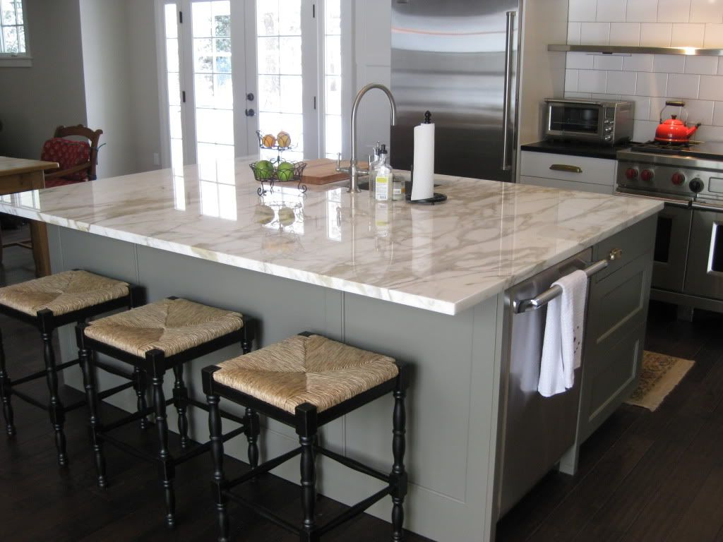Kitchen Island With Different Countertop Beautiful Square Island Corners 12 Quot Overhang On Island