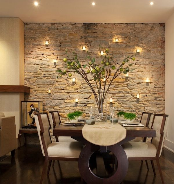 wandgestaltung mit kerzen für natursteinwand Deko Pinterest - wandgestaltung