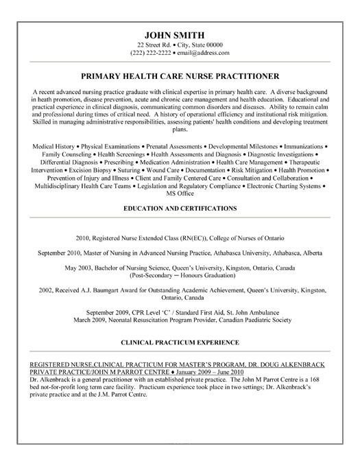 sample resume for psychiatric long term care nurse