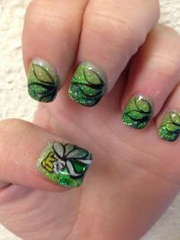Tinkerbell nails   Nail Art   Pinterest   Tinkerbell ...