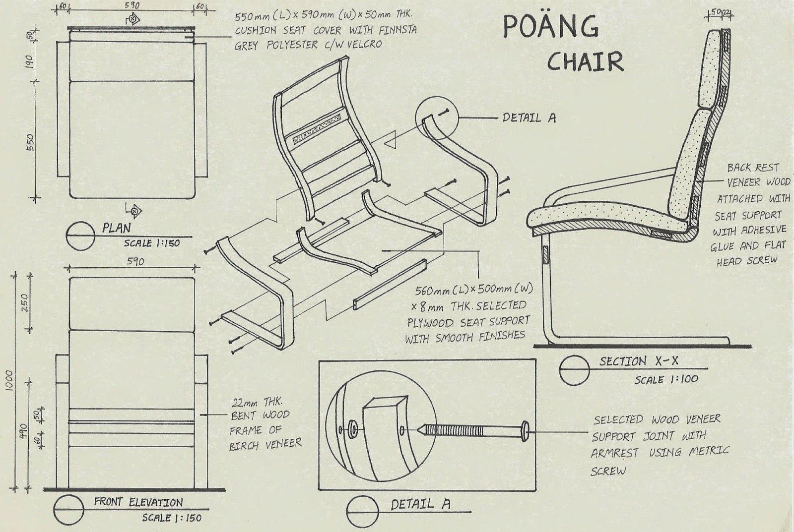 Eames Chair Drawing Yii Min In Design Assembly Drawing Poang Chair By Ikea