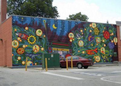 OUTDOOR murals | Outdoor Wall Murals... | Murals | Pinterest | Palm tree paintings