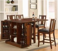 Kitchen Island Counter Height Set with Chairs (Table and 4 ...