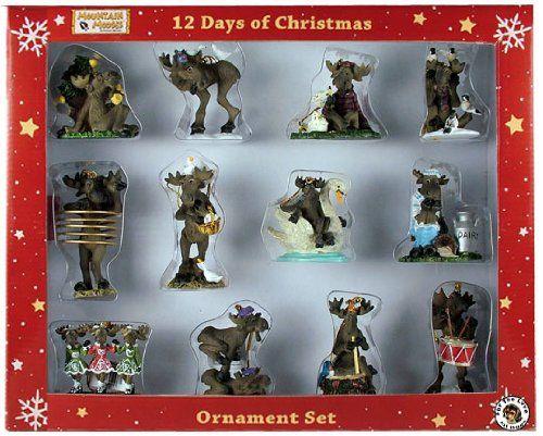Big Sky Carvers Mountain Moose 12 Days of Christmas - moose christmas decorations
