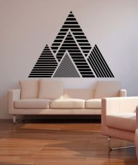 Vinyl Wall Decal Sticker Geometric Mountains #OS_MB1247 ...