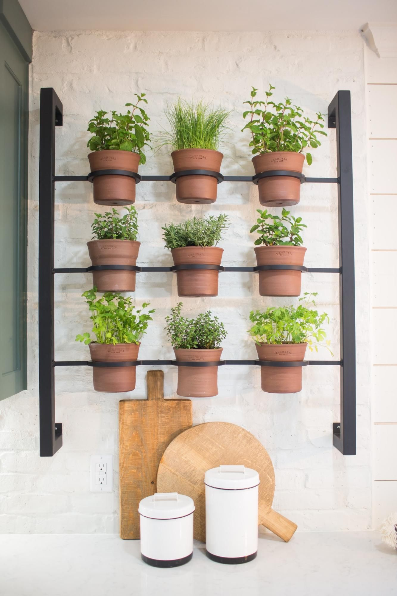 Indoor Wall Mounted Plant Holders Best 25 43 Herb Rack Ideas On Pinterest Wall Herb Garden