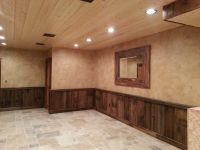 crackled finish above barn wood wainscoting | Pennsylvania ...