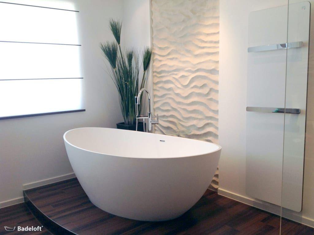 Moderne Badezimmer Bilder Freistehende Mineralguss Badewanne BW - badezimmer design massiv blox