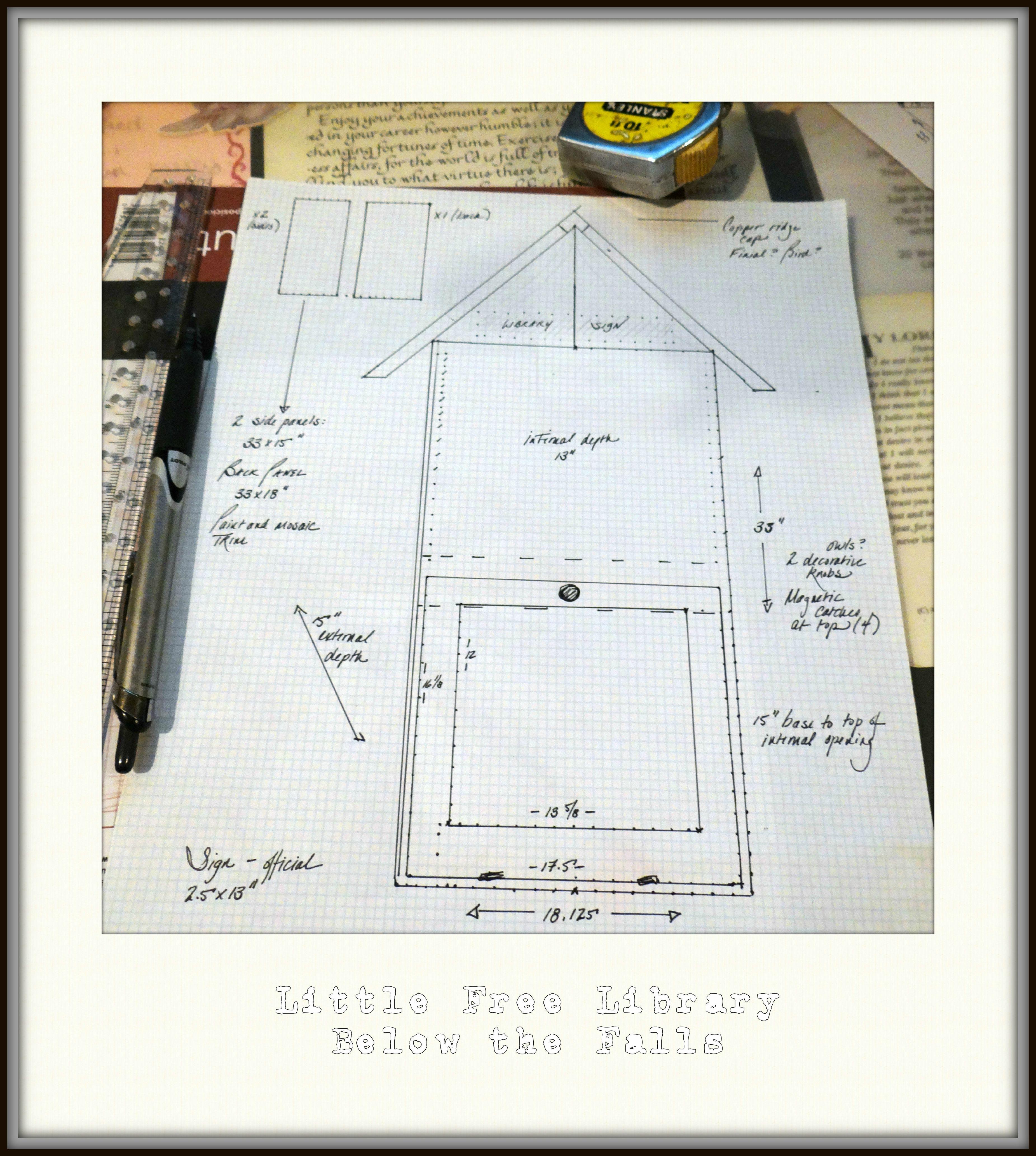 Portable building plans for a cabinet