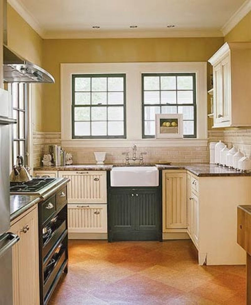 Small Black And Cream Cottage Kitchen With Italian Details P - small country kitchen ideas