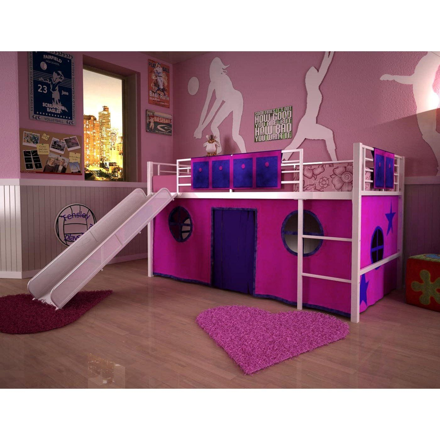Pink loft beds for teenagers loft beds for