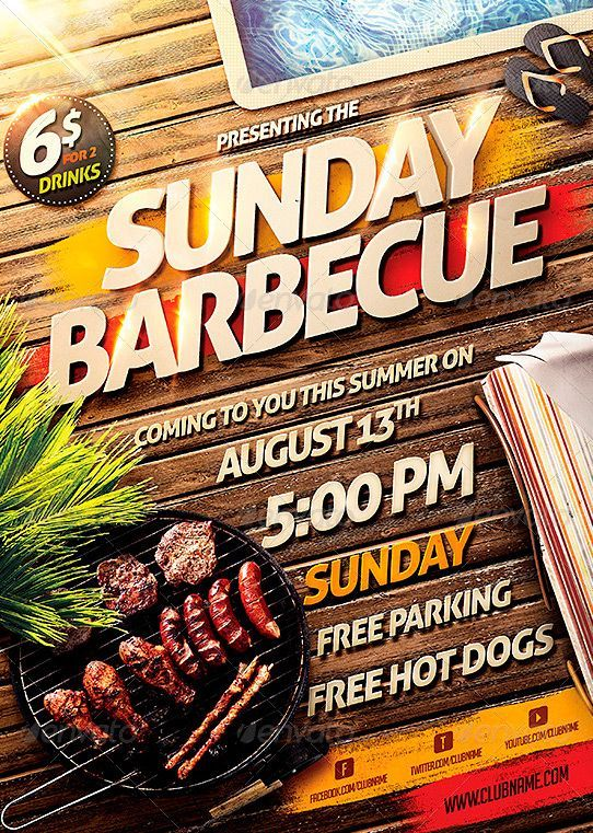 Barbecue BBQ Party Flyer Template - http\/\/wwwffflyer - bbq flyer