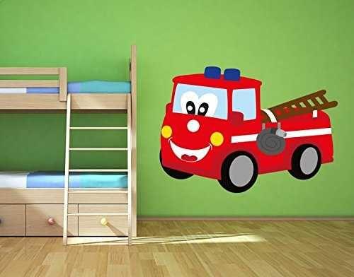Wandsticker süßes Feuerwehrauto von Klebefieber Ein toller - wandsticker babyzimmer nice ideas