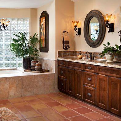 Bathroom Spanish Style Design, Pictures, Remodel, Decor