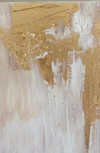 How To Make DIY Gold Leaf Abstract Art. LOVE this!   Glam ...