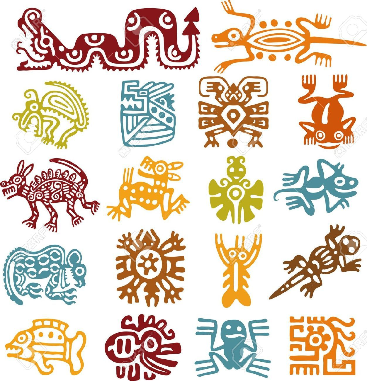Libros Eroticos Antiguos Aztec Art Cliparts Stock Vector And Royalty Free Aztec