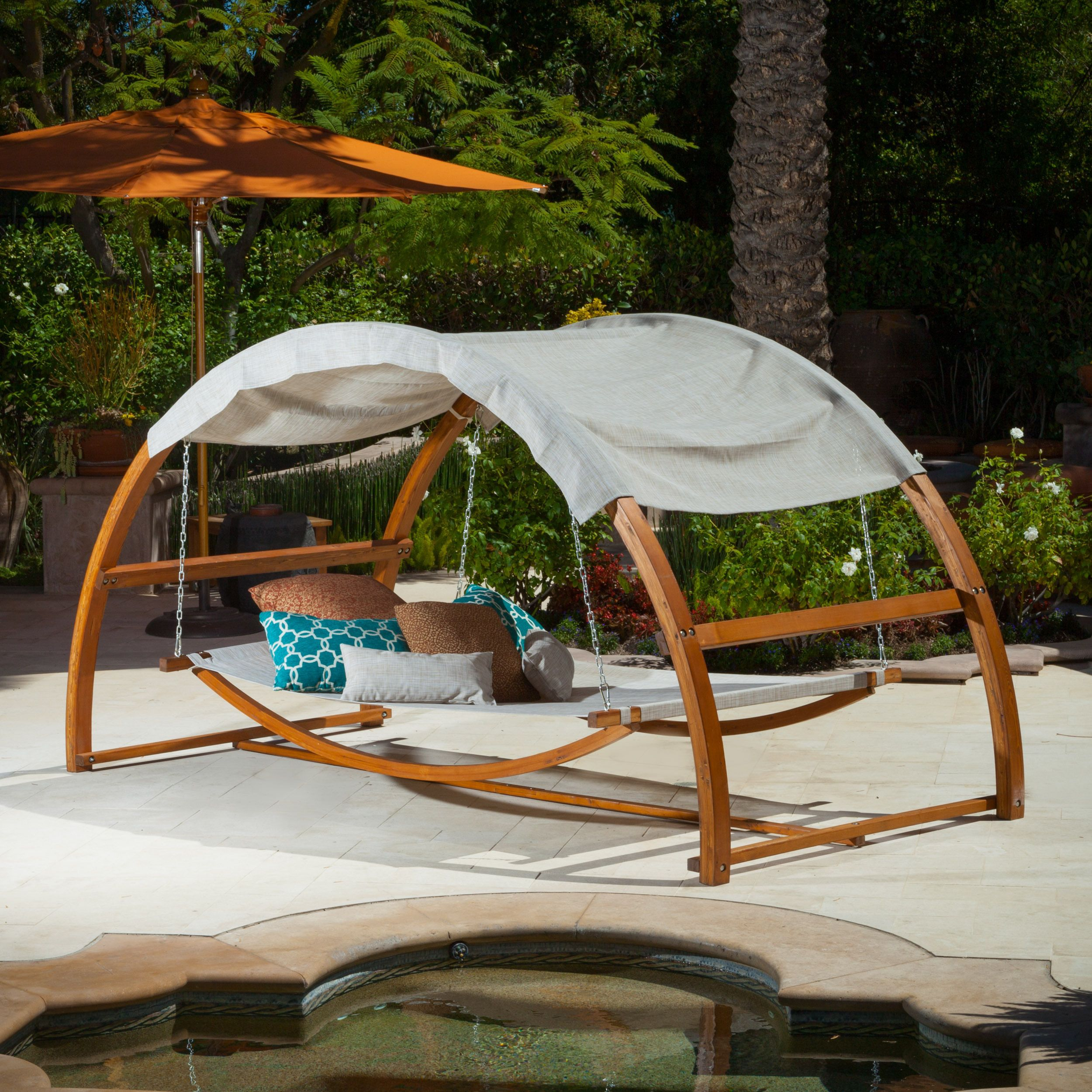 Tonga swing bed with canopy by christopher knight home by christopher knight home