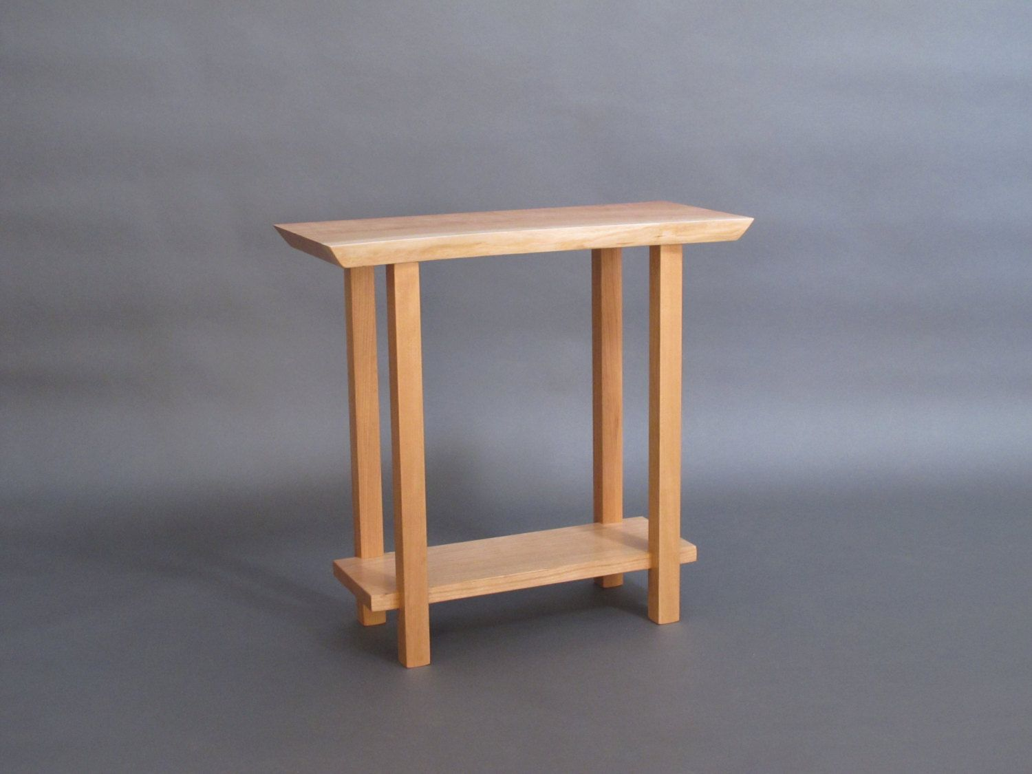 Small Narrow End Table Live Edge Narrow Side Table Small Occasional Table Live