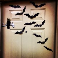 Halloween dorm door decorations.
