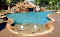 inground pools with rock slides | Natural Swimming Pool ...