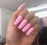 Long Pink Acrylic Nails Tumblr | Nails Design | Pinterest ...